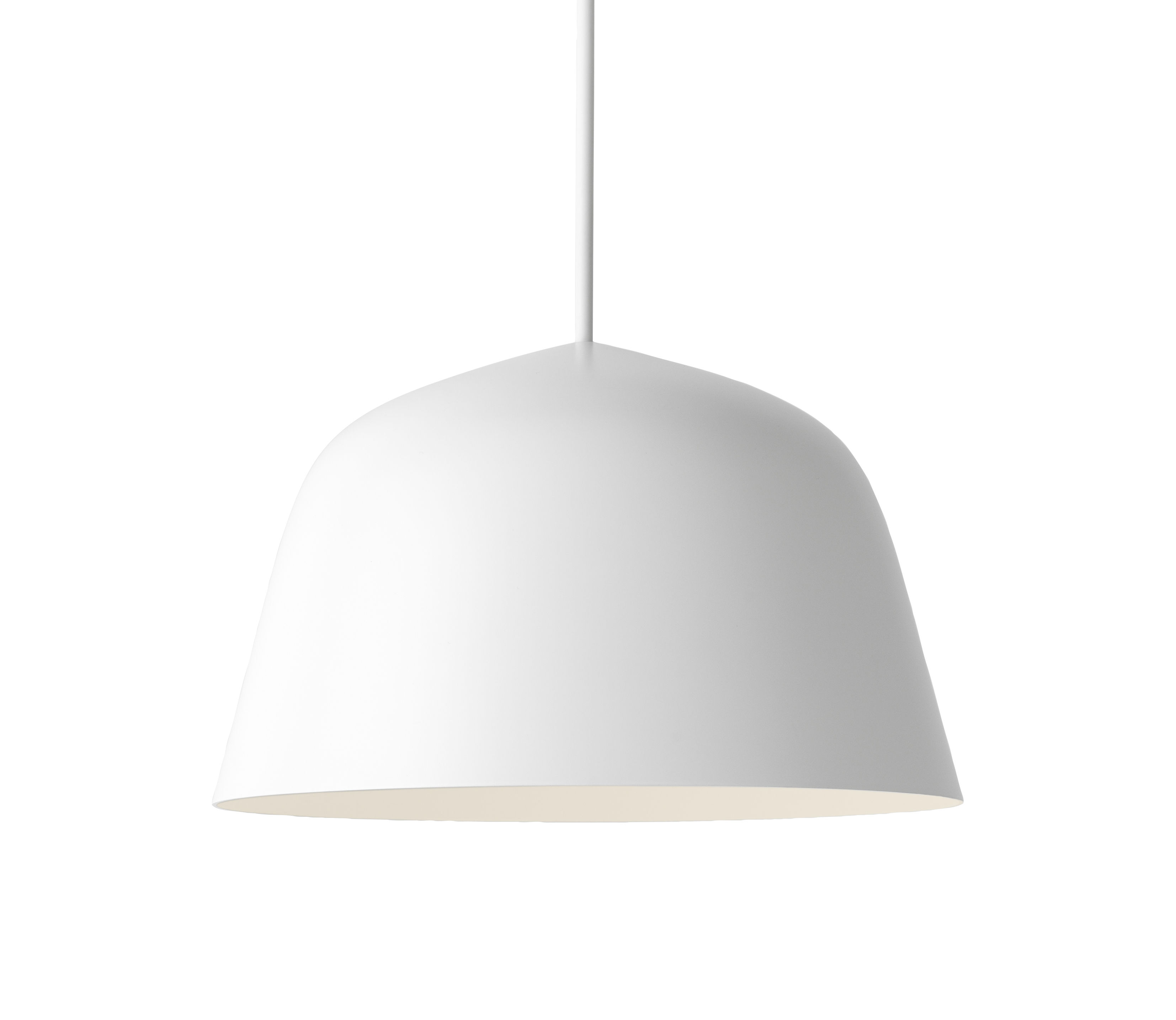 Illuminazione - Lampadari - Sospensione Ambit / Ø 25 cm - Metallo - Muuto - Blanc - Alluminio