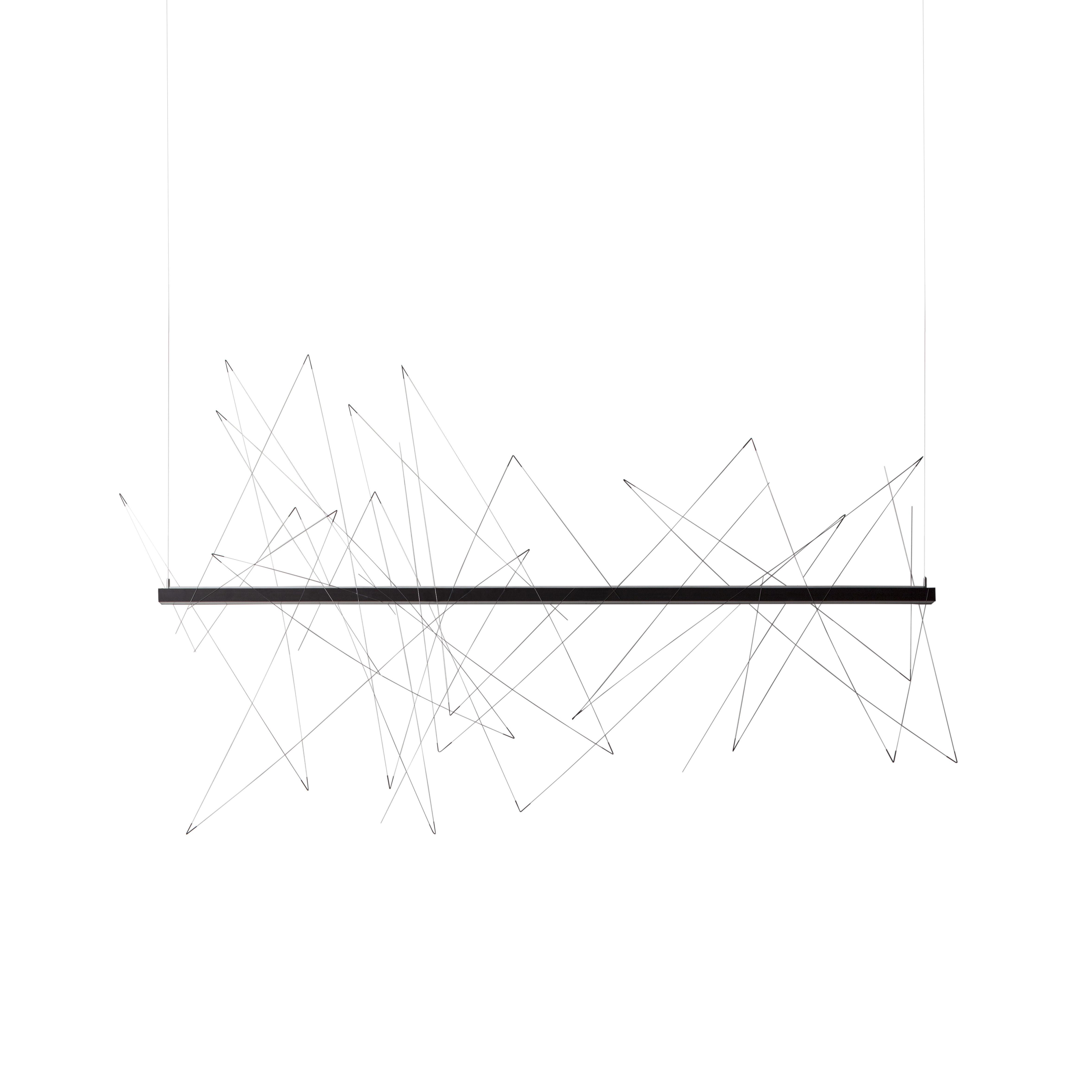 Illuminazione - Lampadari - Sospensione Graffiti LED - / L 180 cm - Modulabile : barre magnetiche di Pallucco - L 180 cm / Anthracite & acier - Acciaio, Alluminio