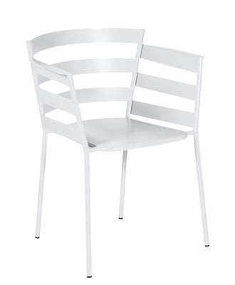 Rythmic Stapelbarer Sessel / Stahl - Fermob - Baumwollweiß