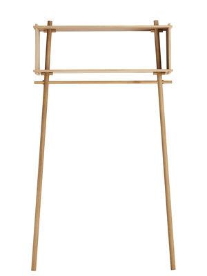Arredamento - Scaffali e librerie - Appendiabiti Töjbox / Mensola - L 112 x H 200 cm - Woud -  - Compensato di rovere, Rovere massello