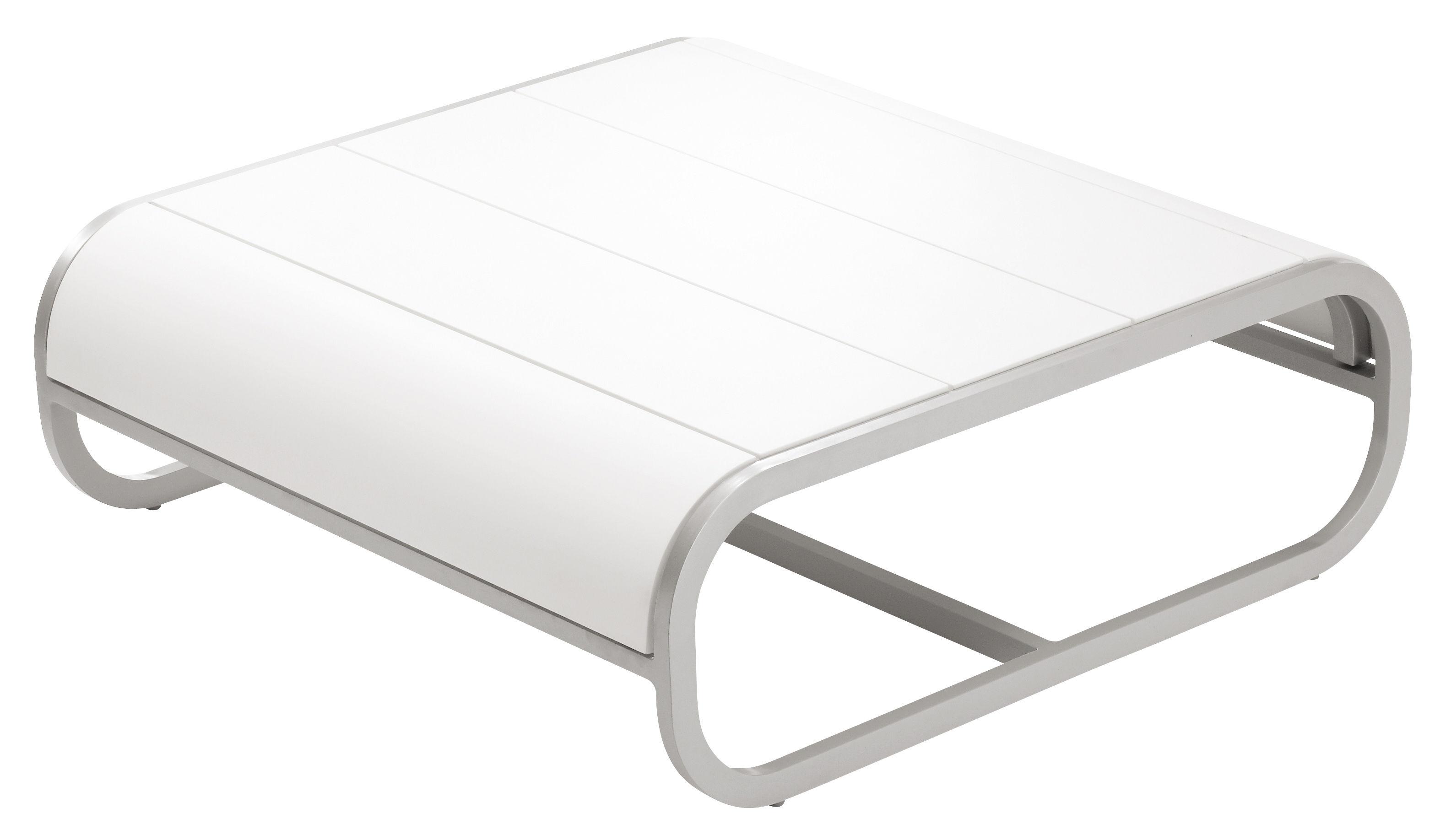 Mobilier - Tables basses - Table basse Tandem version corian - EGO Paris - Corian blanc - Aluminium laqué, Corian