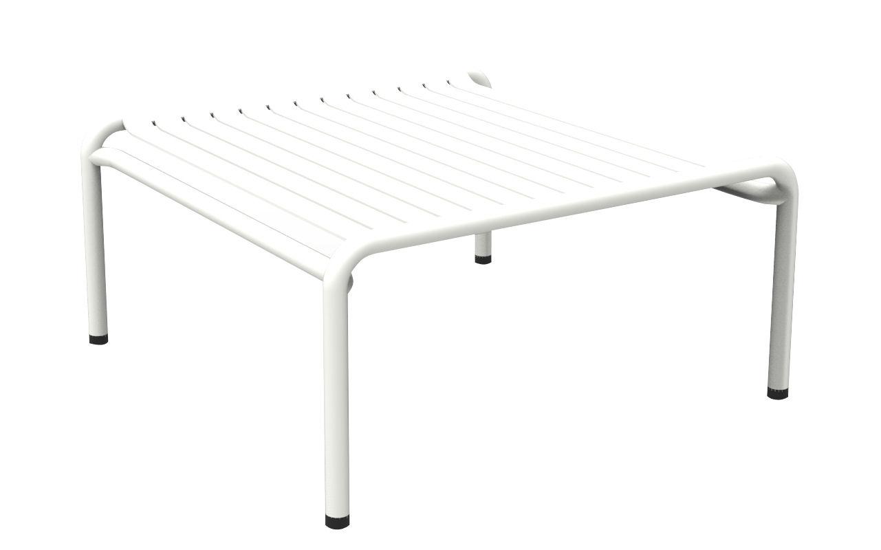 Mobilier - Tables basses - Table basse Week-end / 69 x 60 cm - Aluminium - Petite Friture - Blanc - Aluminium thermolaqué époxy
