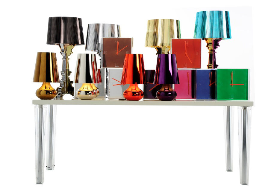 Bourgie Table Lamp Titanium By Kartell