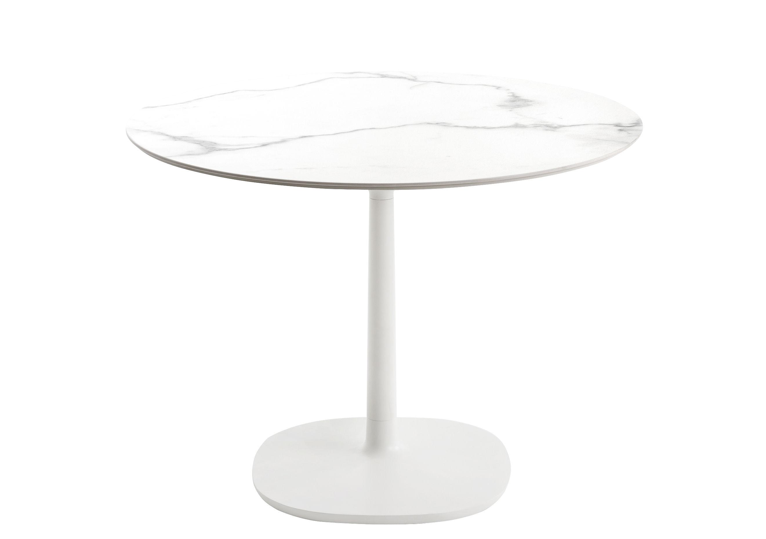 Table ronde Multiplo indoor/outdoor - Effet marbre / Ø 78 cm - Kartell