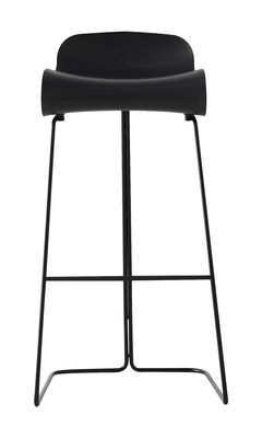 Tabouret de bar BCN / H 76 cm - Kristalia noir en matière plastique