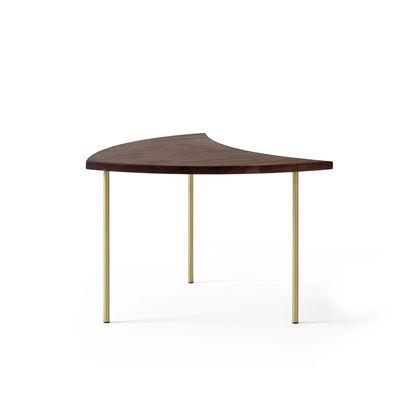 Arredamento - Tavolini  - Tavolino d'appoggio Pinwheel HM7 (1953) di &tradition - Noce / ottone - Noce massello, Ottone