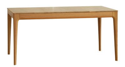 Dossiers - La top 100 dell'arredamento - Tavolo con prolunga Romana - / L 155 a 200 cm - 6 a 8 persone di Ercol - Rovere / L 155 a 200 cm - Rovere massello
