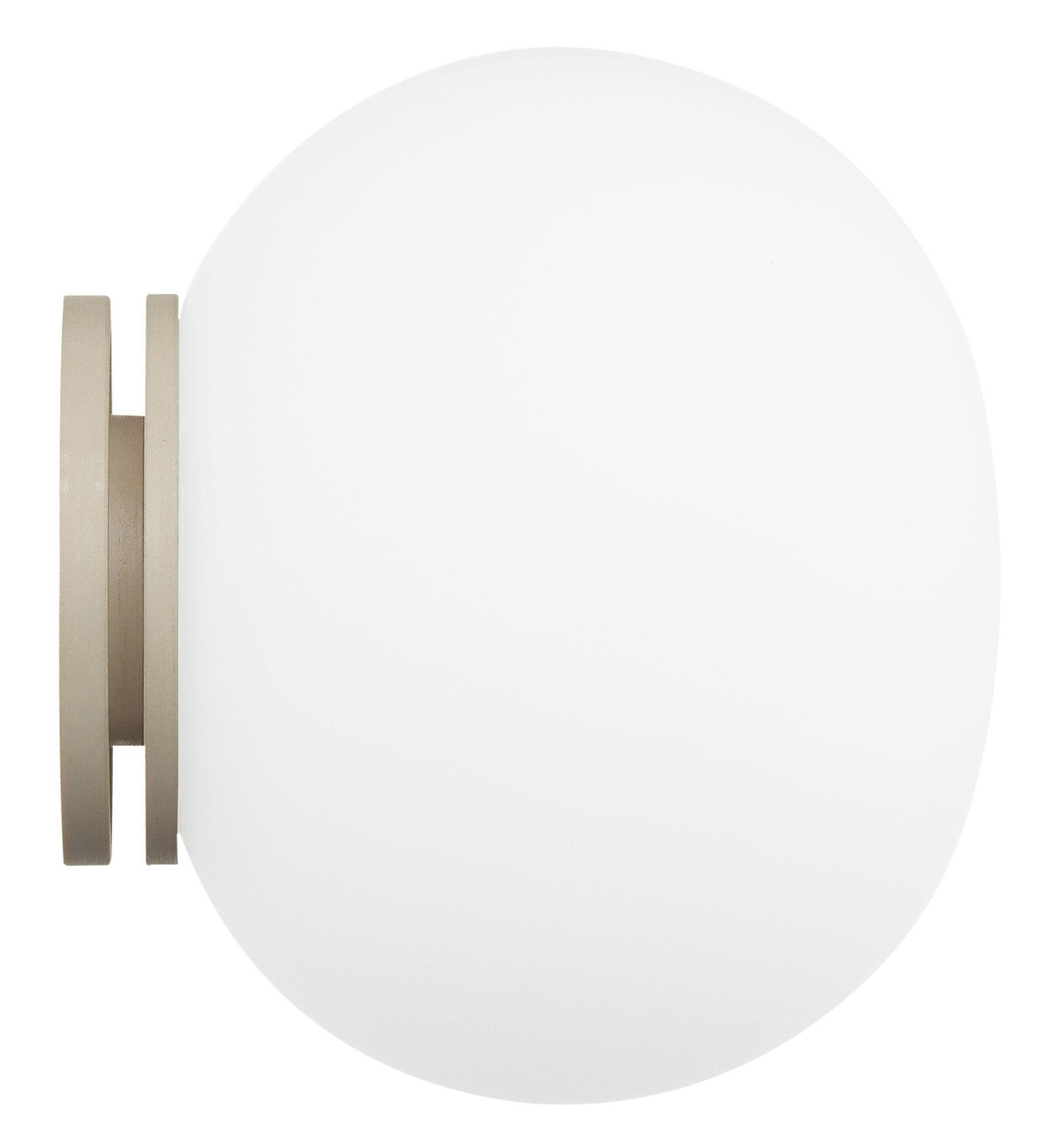 Leuchten - Wandleuchten - Mini Glo-Ball Wandleuchte Deckenleuchte - Flos - Weiß - Glas