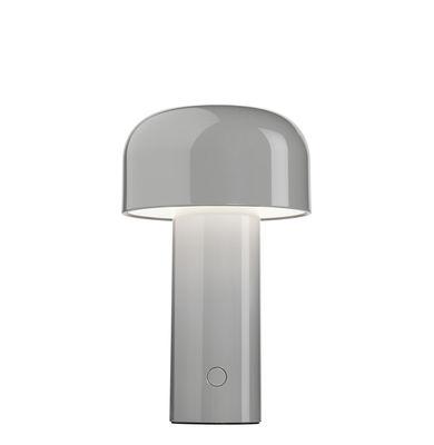 Lighting - Table Lamps - Bellhop Wireless lamp - / Wireless - Refill via USB by Flos - Grey - Polycarbonate
