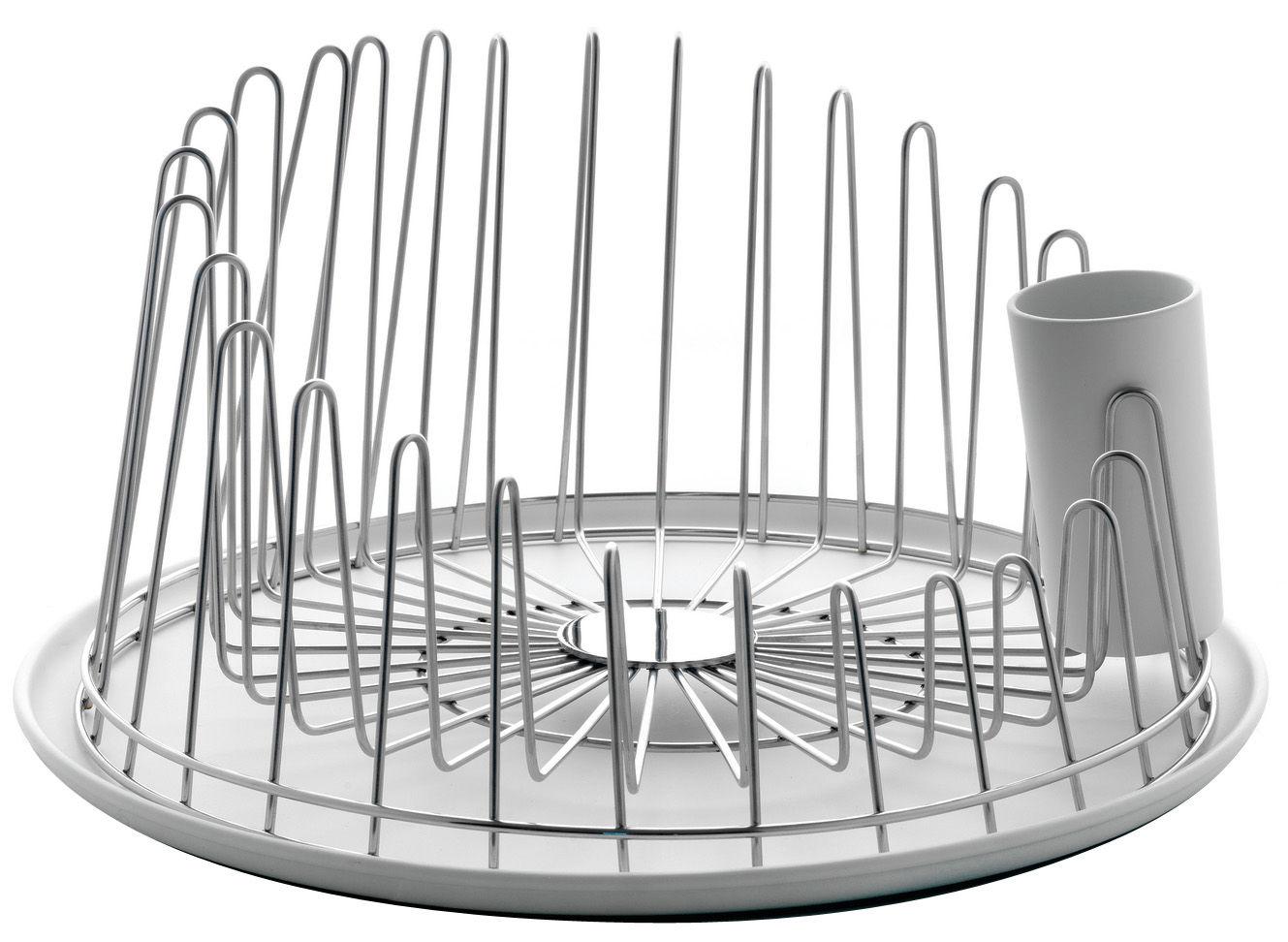 Küche - Spülen und putzen - A Tempo Abtropfgestell - A di Alessi - Stahl glänzend - polierter Stahl, thermoplastisches Harz