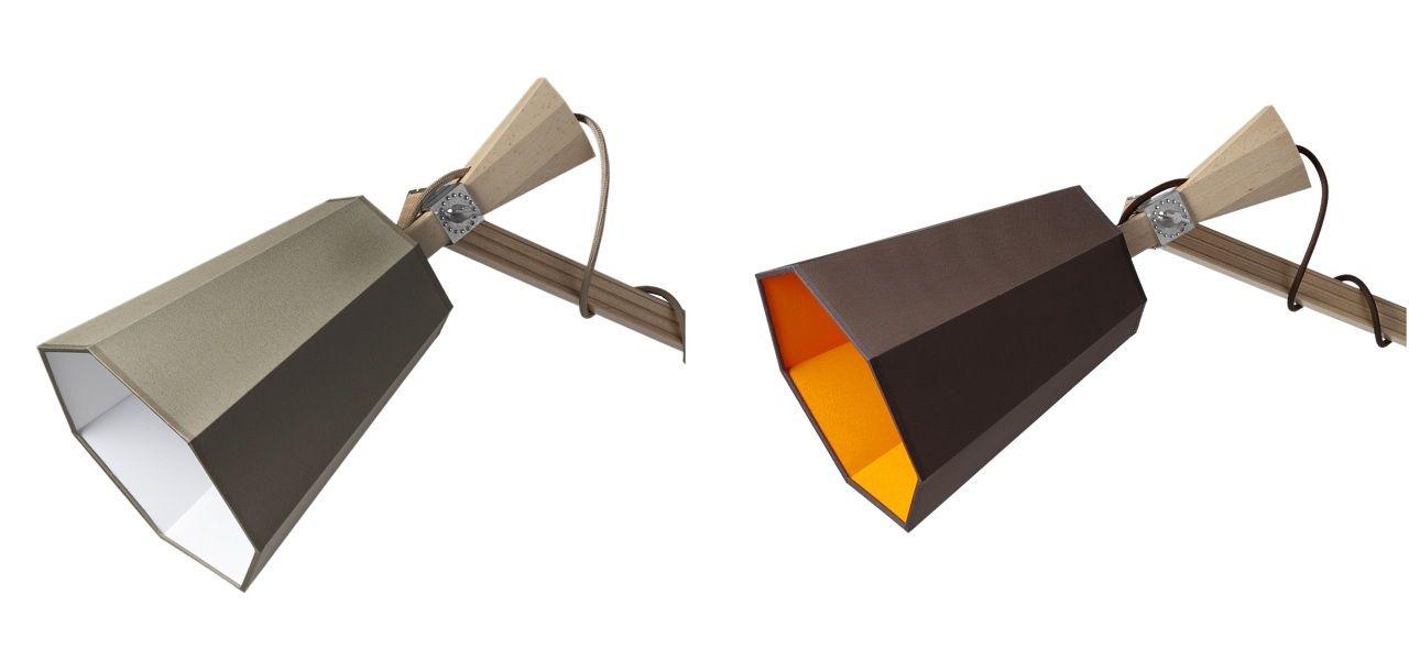 applique avec prise luxiole h 225 cm abat jour marron int orange designheure made in design. Black Bedroom Furniture Sets. Home Design Ideas