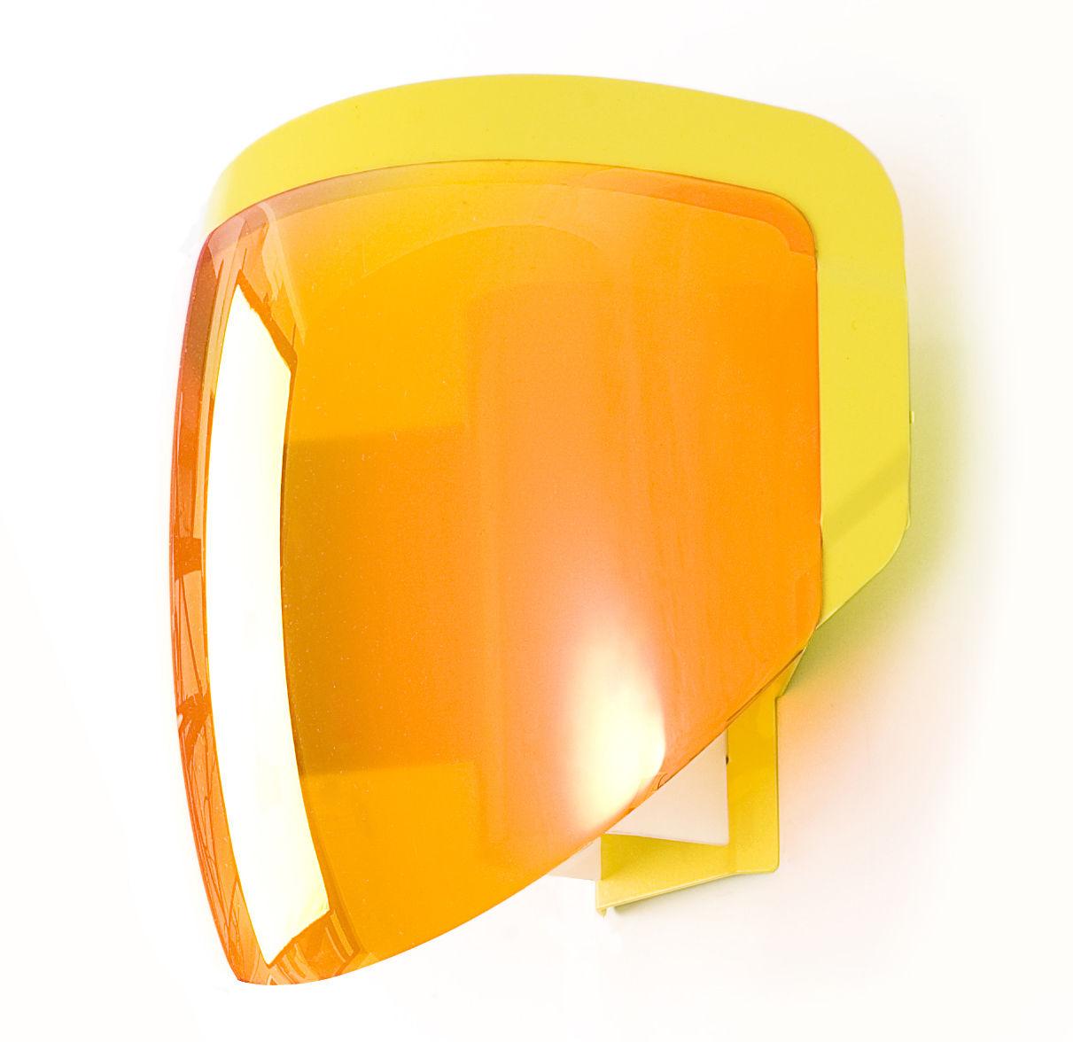 Luminaire - Appliques - Applique avec prise Moto - Moustache - Orange - Métal, PMMA