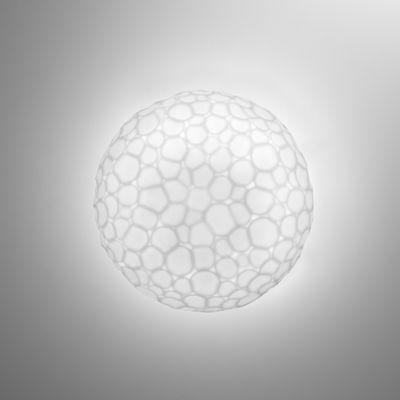 Luminaire - Appliques - Applique Meteorite LED / Plafonnier - Ø 15 cm - Artemide - Ø 15 cm / Blanc - Verre soufflé