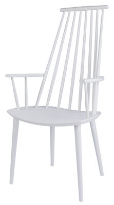 Furniture - Chairs - J110 Armchair - Wood by Hay - White - Tinted solid beech
