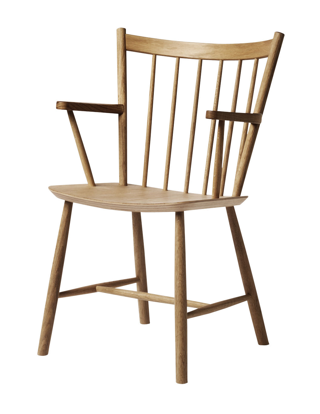 Furniture - Chairs - J42 Armchair - / Wood by Hay - Oiled oak - Oiled oak