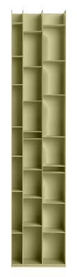 Möbel - Regale und Bücherregale - Random 3C Bücherregal / L 46 cm x H 217 cm - MDF Italia - Helles Lichengrün - Holzfaser