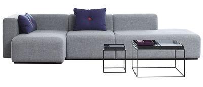 Canapé d'angle Mags L 302 cm Accoudoir gauche Hay gris clair en tissu