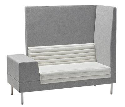 Canapé droit Smallroom / Angle droit- L 151 cm - Offecct gris en tissu