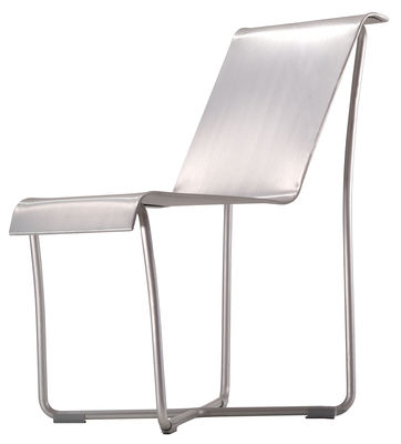 Furniture - Chairs - Superlight Chair Chair - Aluminium by Emeco - Brushed aluminium - Aluminium recyclé