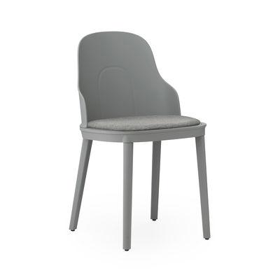 Mobilier - Chaises, fauteuils de salle à manger - Chaise Allez INDOOR / Assise tissu - Normann Copenhagen - Gris - Mousse, Polypropylène, Tissu
