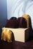 Cuscino Arcus - / 50 x 50 cm - Velluto di AYTM