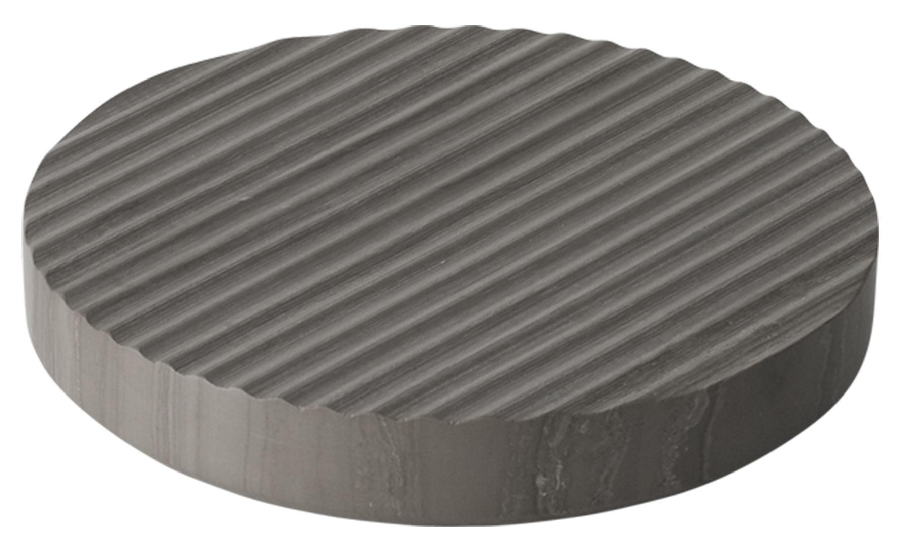 Arts de la table - Dessous de plat - Dessous de plat Groove / Small  Ø 16 cm - Marbre - Muuto - Gris - Marbre