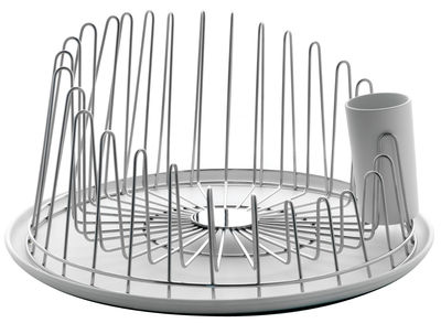 Kitchenware - Kitchen Sink Accessories - A Tempo Draining rack by A di Alessi - Polished steel - Polished steel, Thermoplastic resin