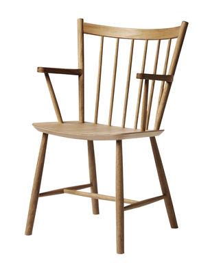 Mobilier - Chaises, fauteuils de salle à manger - Fauteuil J42 / Bois - Hay - Chêne huilé - Chêne huilé
