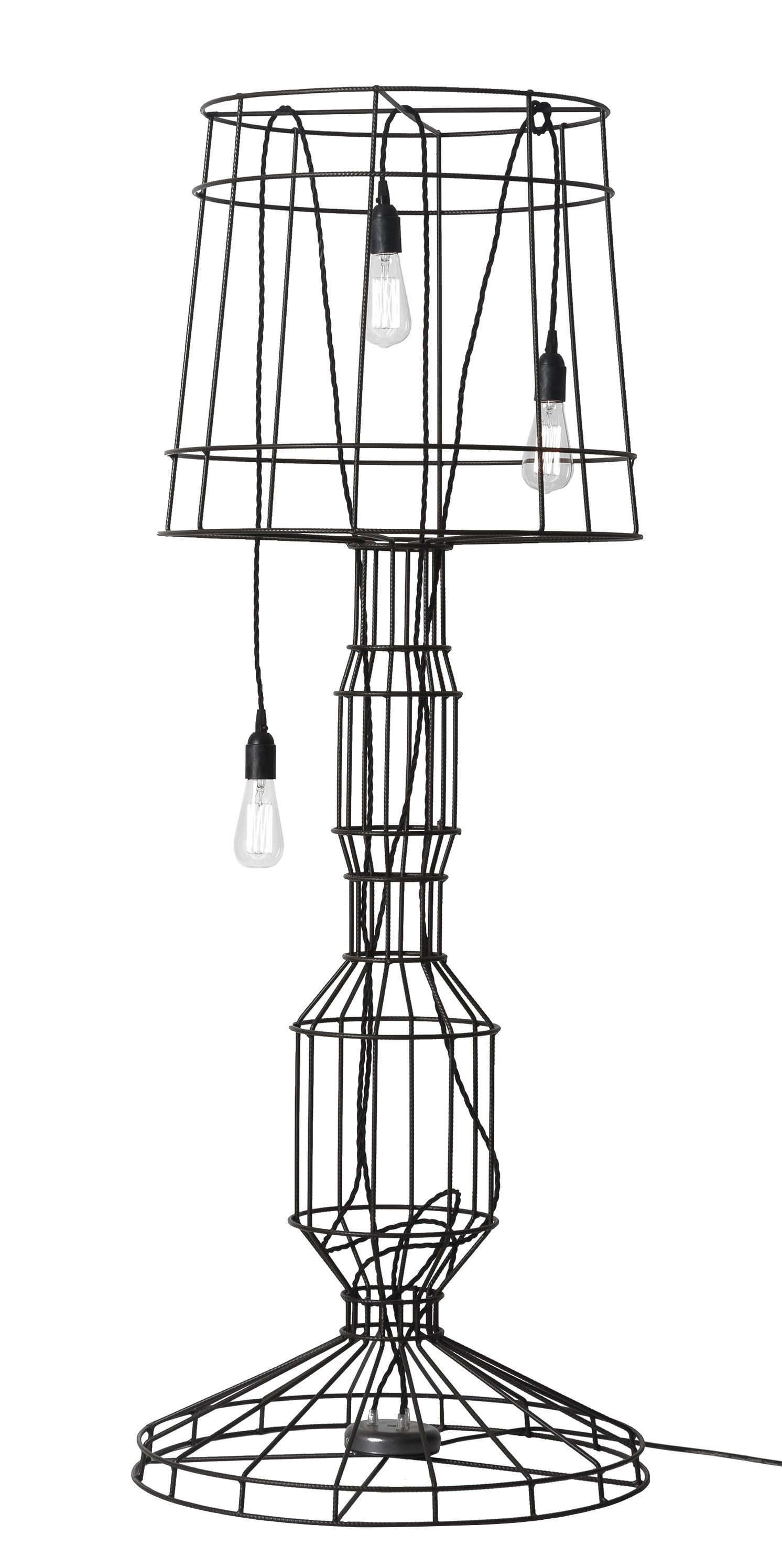 Lighting - Floor lamps - Sisma Floor lamp - H 166 cm by Karman - Anthracite - Steel