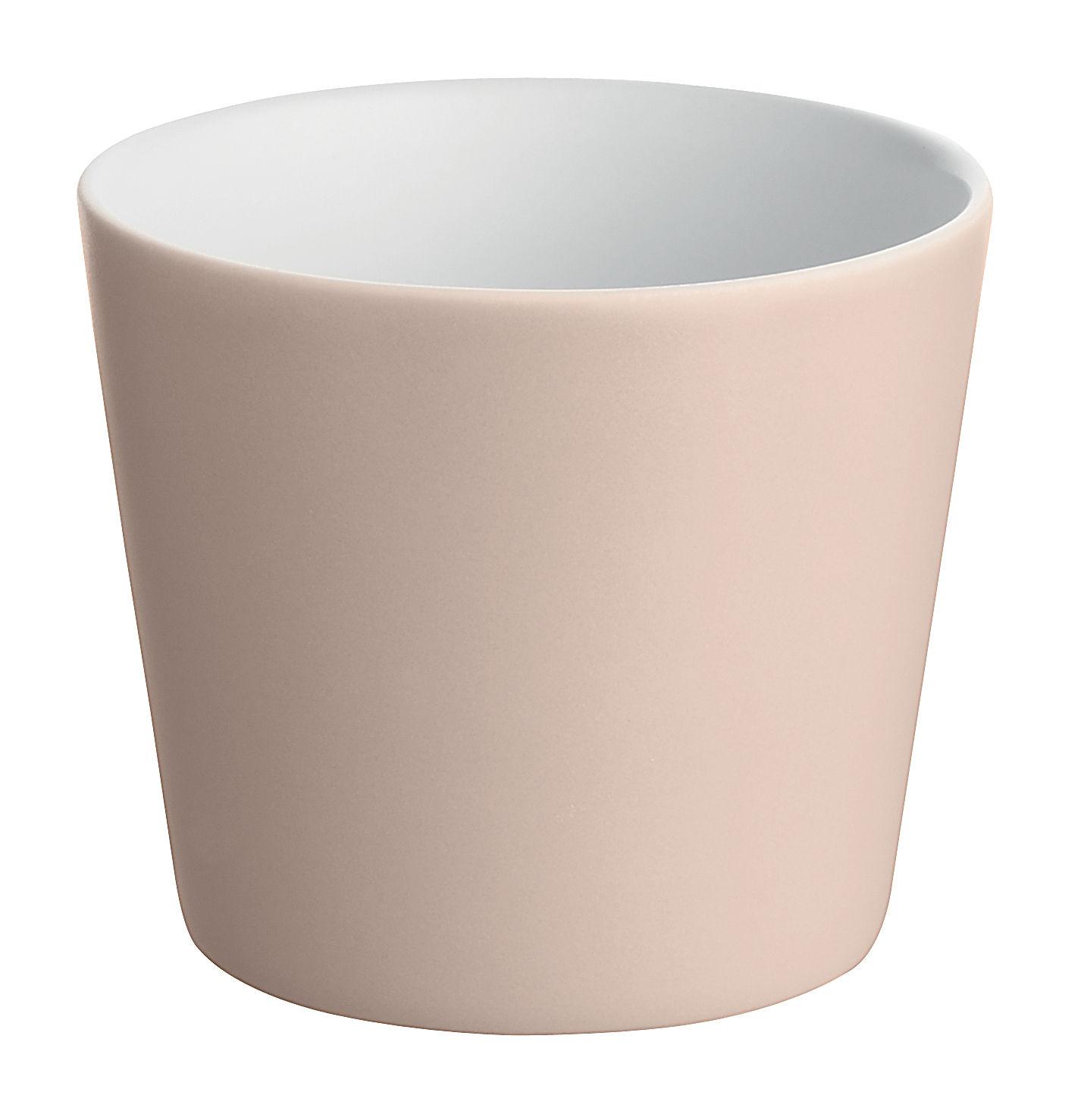 Arts de la table - Verres  - Gobelet Tonale / 20 cl - Alessi - Rose pâle / intérieur blanc - Céramique Stoneware
