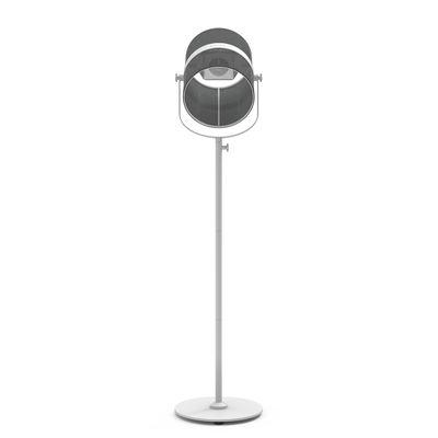 Illuminazione - Lampade da terra - Lamada da terra solare La Lampe Paris LED - / Senza filo di Maiori - Nero / Base bianca - alluminio verniciato, Tessuto