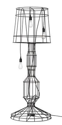 Luminaire - Lampadaires - Lampadaire Sisma / Métal - H 166 cm - Karman - Anthracite / Câbles noirs - Acier
