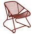 Sixties Lounge Sessel / Weiche Sitzfläche aus geflochtenem Kunststoff - Fermob