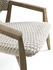 Knit Low armchair - / High backrest - Synthetic rope by Ethimo