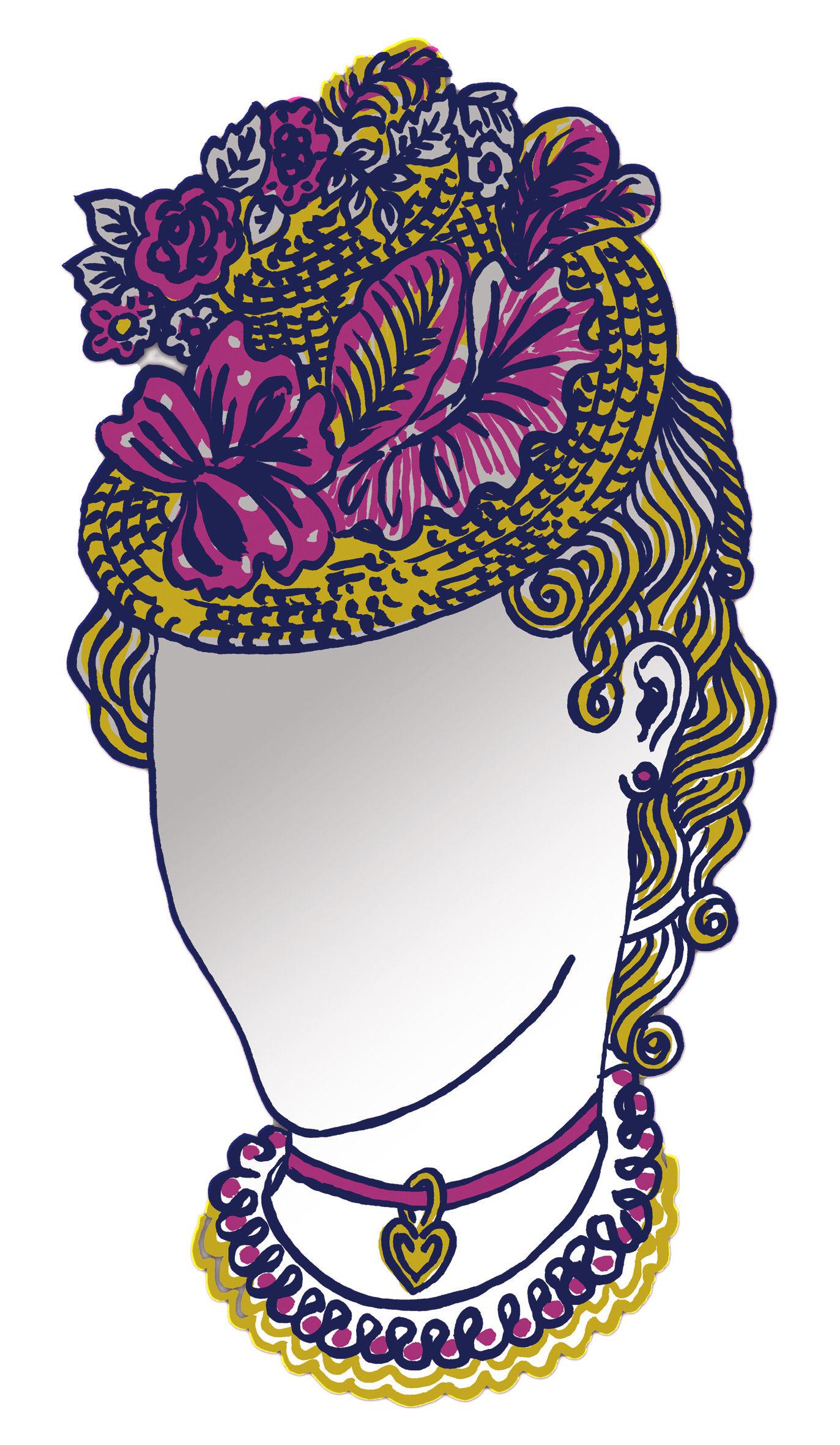 Mobilier - Miroirs - Miroir autocollant Dame / 23 x 44 cm - Domestic - Dame - Perspex