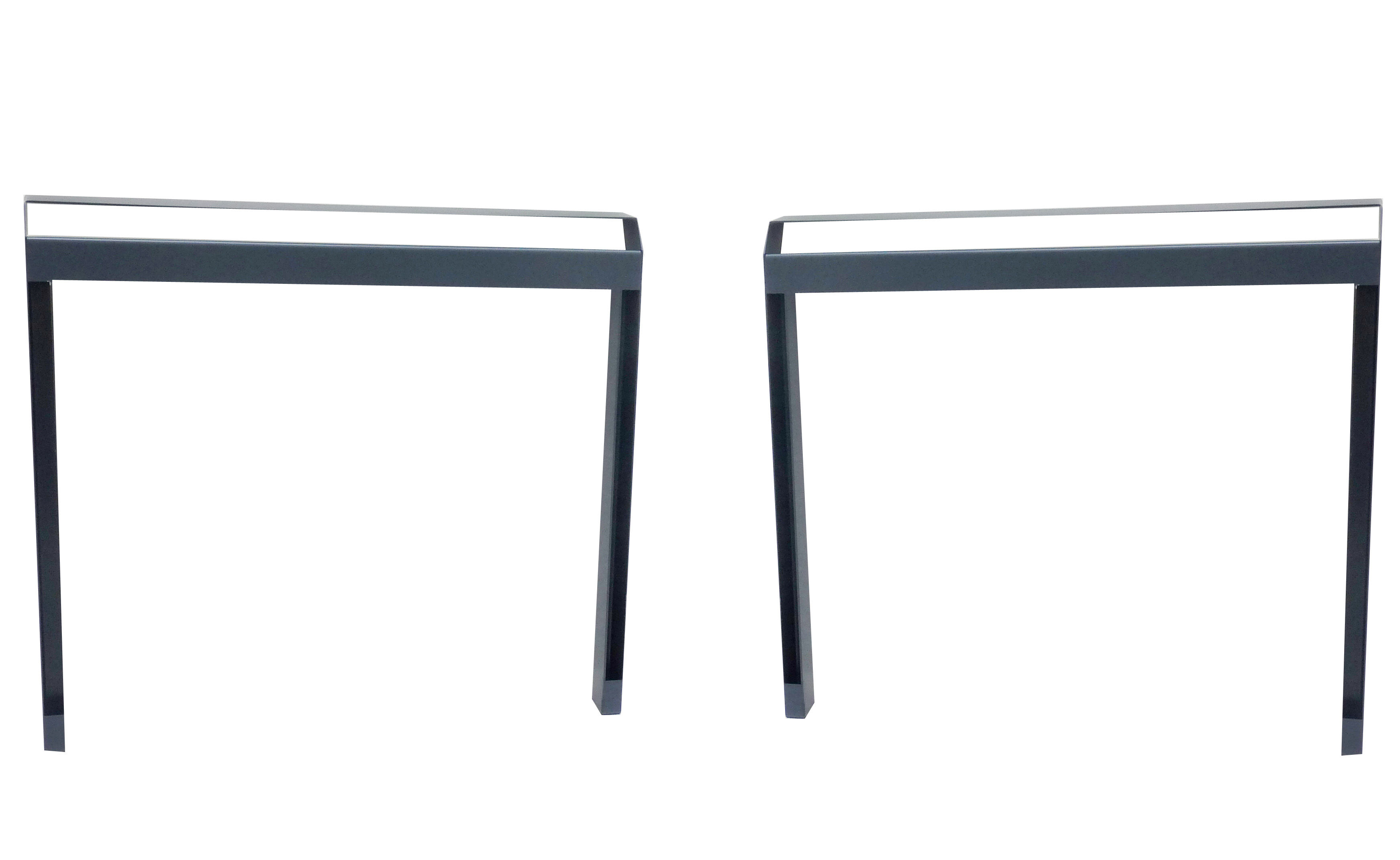 Furniture - Office Furniture - Pi Pair of trestles - Indoor use - Set of 2 by Moaroom - Indoor use / Gun - Lacquered steel