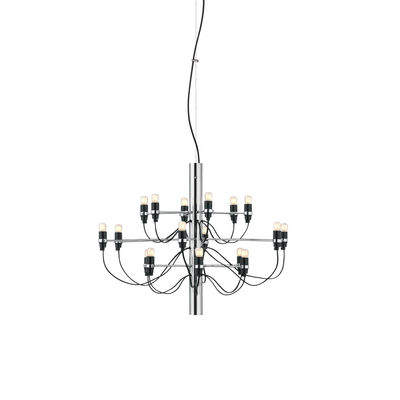 Lighting - Pendant Lighting - 2097 Pendant - / 18 frosted bulbs INCLUDED - Ø 69 cm by Flos - Chrome-plated - Iron