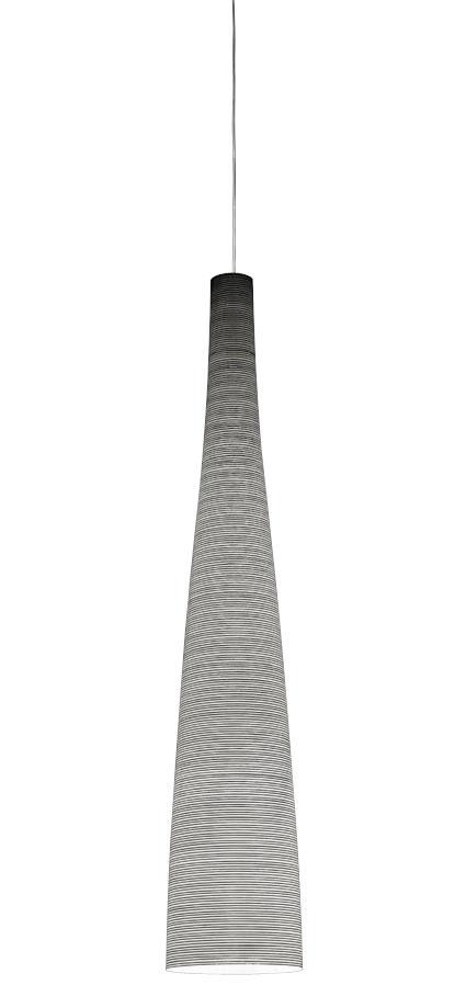 Leuchten - Pendelleuchten - Tite Pendelleuchte - Foscarini - Schwarz (Carbon) - H 115 cm - Glasfaser, Karbon