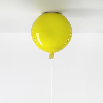 Image of Plafoniera Memory Small - / Ø 25 cm - Vetro di Brokis - Giallo - Vetro