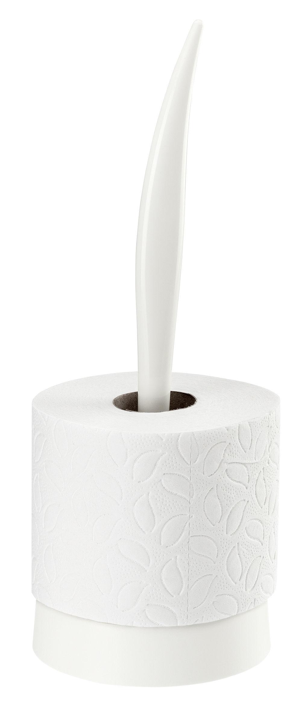 Accessoires - Accessoires salle de bains - Porte-rouleau essuie-tout Sense / Essuie-tout - Koziol - Blanc opaque - Plastique