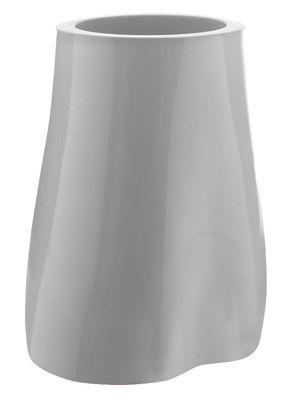 Pot de fleurs Missed tree III / H 57 cm - Version laquée - Serralunga gris/argent en matière plastique