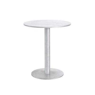 Outdoor - Garden Tables - S Round table - /  Aluminium - Ø 65.5 cm by valerie objects - Aluminium - Aluminium