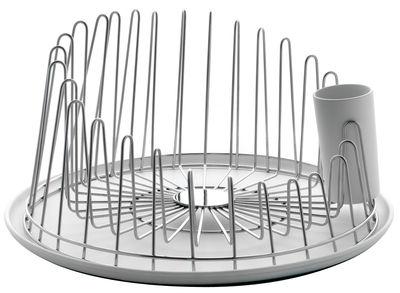 Cucina - Pulizia - Scolapiatti A Tempo di A di Alessi - Acciaio lucido - Acciaio lucidato, Resina termoplastica