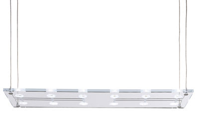 Illuminazione - Lampadari - Sospensione Sospesa di Fabbian - Vetro trasparente - Vetro