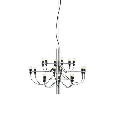 Luminaire - Suspensions - Suspension 2097 / 18 ampoules dépolies INCLUSES - Ø 69 cm - Flos - Chromé - Fer