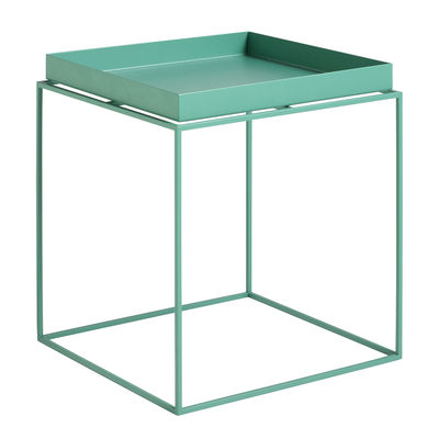 Mobilier - Tables basses - Table basse Tray H 40 cm / 40 x 40 cm - Carré - Hay - Vert Menthe - Acier laqué