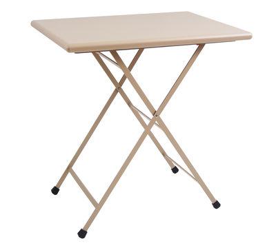 Table pliante Arc en Ciel / 70 x 50 cm - Emu gris/beige en métal