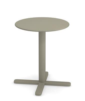 Table pliante Darwin Ø 60 cm Emu gris vert en métal