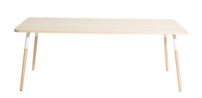 Table rectangulaire Dojo / Hêtre & acier - Petite Friture blanc,hêtre en métal