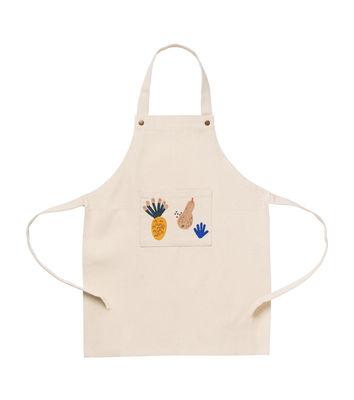Mobilier - Mobilier Kids - Tablier enfant Fruiticana / Coton - Ferm Living - Beige / Motifs multicolores - Coton